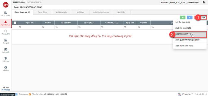 Hướng dẫn nạp file mấu người tham gia từ phiên bản eBHXH Desktop (V2) sang eBHXH (V3)