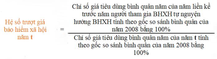hệ số trượt giá BHXH là gì