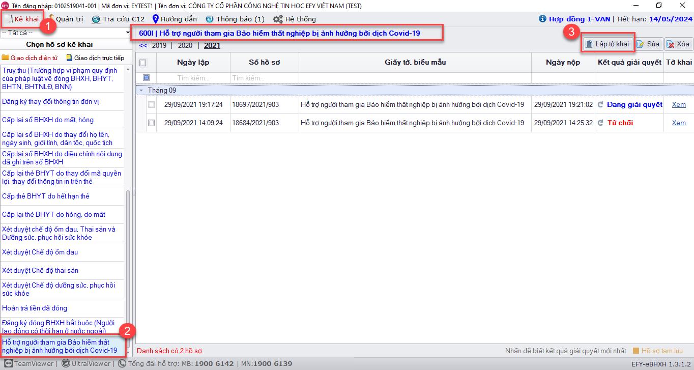 Hướng dẫn kê khai hồ sơ điện tử trên EFY-eBHXH